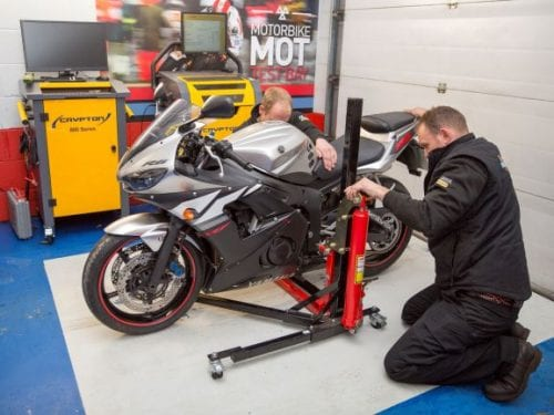 Motorbike MOT test Bay